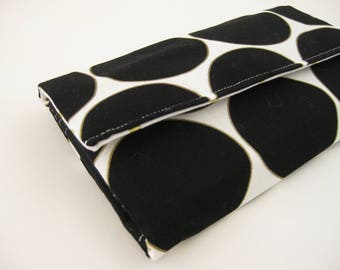 Womens Wallet | Bifold wallet | Fabric Wallet- Reispeices | Black Circle