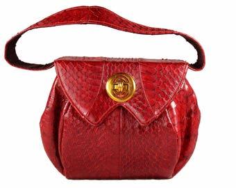 Vintage Snakeskin Natural Color Handbag