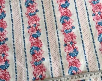 Vintage floral striped pure cotton single sheet