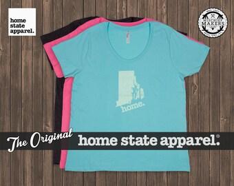 Rhode Island Home. T-shirt- Women's Curvy Fit