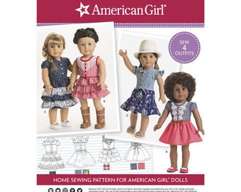 Simplicity 8359- Sewing pattern for 18 Inch Doll Clothes- Fits American Girl Dolls