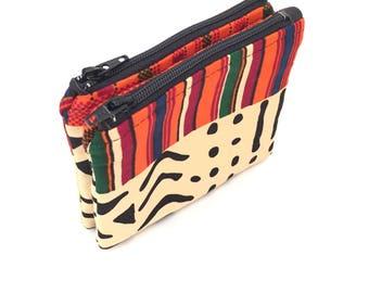 Coin purse, Change Purse, coin purses, change purses, small change purse, small coin purse, zip coin purse, mini coin purse, kente african