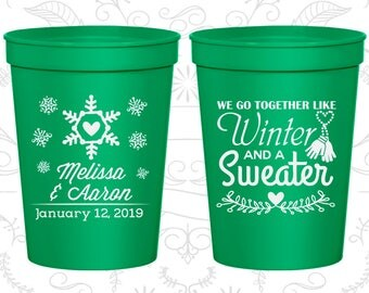 Green Stadium Cups, Green Cups, Green Party Cups, Green Wedding Cups (499)