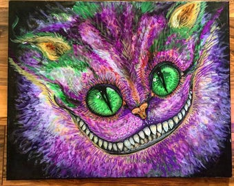 "Cheshire Cat Print from my original painting!  15"" by 12"" and 100 pound paper! Great print and quality!"
