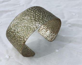 Thin brass cuff bracelet