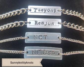 NCT U, NCT 127, NCT Dream Kpop Name Bracelets