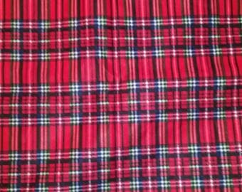 Red Flannel Plaid Fabric