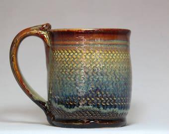 handmade pottery mug, 12oz  stoneware pottery mug, ceramic coffee mug
