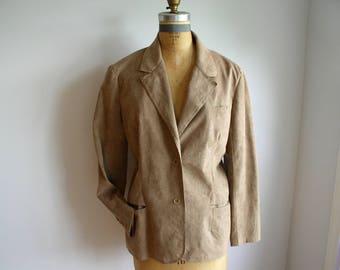 Vintage 70's Ultra Suede Jacket by Designer Stephen Burrows