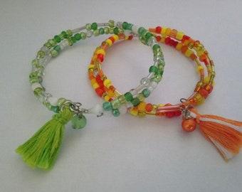 Set of 2 bracelets seed beads