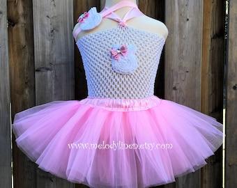 Easter tutu bunny tutu easter hadband bunny headband pink easter tutu my 1st easter outfit easter dress easter bunny outfit bunny tail tutu