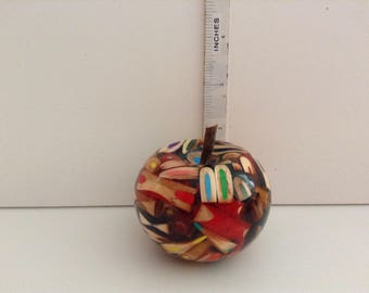 Absolutely Fabulous..... Hand Turned....Coloured Wooden Pencils and Resin Apple....Please Check Out Sections....Wood Fruit and Bowls....
