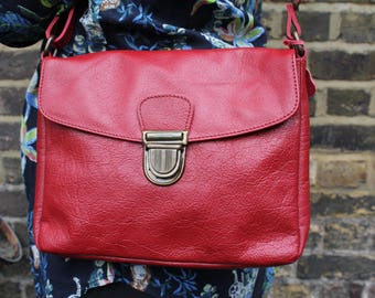 Louisa Small Simple Satchel Red