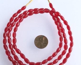 Vintage dark red Czech trade beads