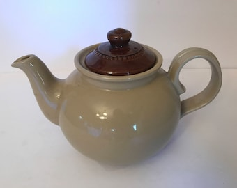 Vintage Pearson Chesterfield England stoneware teapot- Brown and Tan