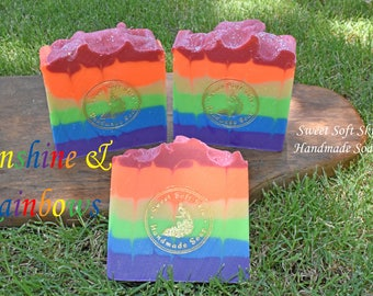 Sunshine and Rainbows Soap Bars