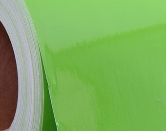 Lime Green Self Adhesive Sign Vinyl Film 24 inches - By The Yard