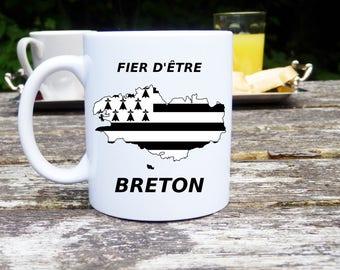 Mug with personalized, Brittany, proud of being BRETON, original and customizable Mug gift, ceramic mug