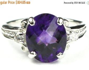 On Sale, 20% Off, Amethyst, 925 Sterling Silver Ring, SR136