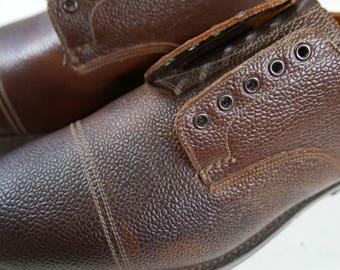 LOTUS VELDTSCHOEN uk 10 mens field shoes , vintage & never worn , brown leather