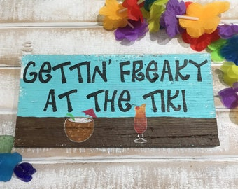 Beach signs, tiki signs, tiki bar signs, beach decor, tropical decor, bar signs, beach house decor, reclaimed wood sign, pallet sign, tiki