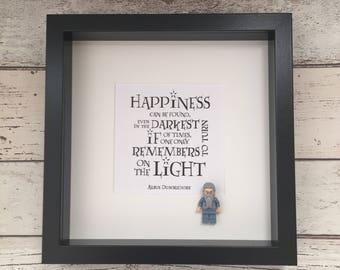 Personalised Magical Harry Potter Inspired Albus Dumbledore Gift 3D Picture Frame