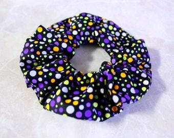 Halloween Polka Dot Hair Scrunchie 100% Cotton