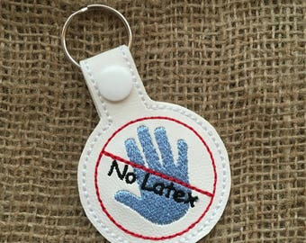 Latex Allergy Key Fob/Snap Tab/KeyChain