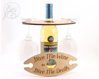 Wine Carrier | wine caddy, wine tote. wine butler, wine glass holder, wine bottle carrier, wine picnic, wine bottle holder, wine lover