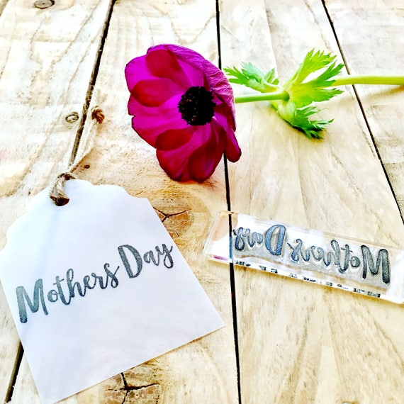 Mothers Day Clear Rubber Stamp - Mothers Day - Mothers Day Stamp - Mothers Day Clear Stamp - Mothers Day Rubber Stamp - Little Stamp  Store