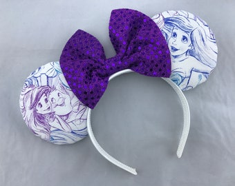 The Little Mermaid Ariel Minnie Mouse Ears