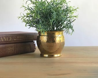 Small Solid Brass Planter