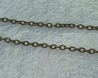 50 cm chain convict bronze 2.5x3.5mm