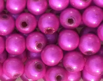 20 magical miracles fuschia pink 6 mm beads