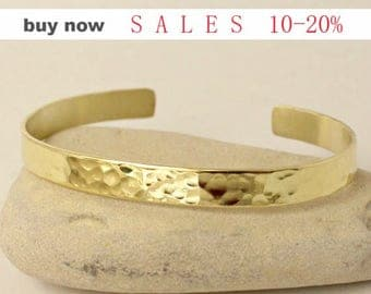 Custom / Personalized Bracelet- Hand Stamped Cuff Bracelet Aluminum Silver / Brass Gold / Sterling Silver Hammered/Shinny bangle bracelet