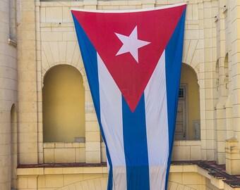 Cuban Flag in Museo de Revolucion, Havana, Cuba, street, photography, caribbean, cuban art, print, cuban decor, home decor