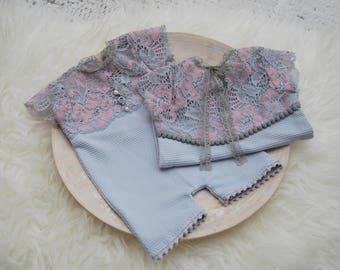 Newborn Girl Outfit, Lace Romper, Newborn Romper Prop, Photography Prop, Newborn Photo Prop, Newborn Props, Newborn Photo Outfit, code 049