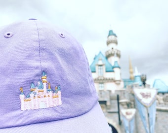 Sleeping Beauty Castle Disney Dad Hat, Disneyland Castle Dad hat, Disneyland Castle baseball hat, Sleeping Beauty Castle