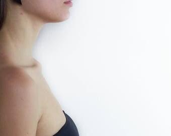 022_orecchini in black pvc lobe