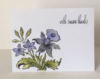 Fresh Picked Floral Thank You Card for All Occasions