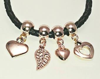 Pandora style rose gold charms. Fits standard Pandora, Thomas sabo, links of London and European charm bracelets.