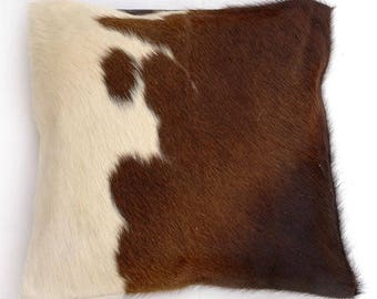 Natural Cowhide Luxurious Hair On Cushion/ Pillow Cover (15''x 15'') A85