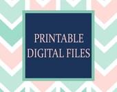 Printable Wall Art, Printable Nursery Wall Art, Nursery Printables, Girl Nursery Art, Boy Nursery Art, Bathroom Printables