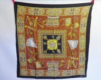 "Vintage Scarf  Baroque Versailles Style 78cm x 76cm / 30.7"" x 29.9"""