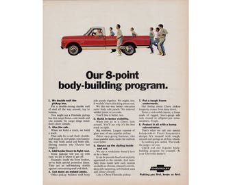 Vintage poster advertisement for a 1970 Chevrolet pick up -  2