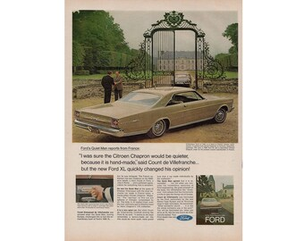 Vintage poster advertisement of a 1966 Ford Galaxie - 10
