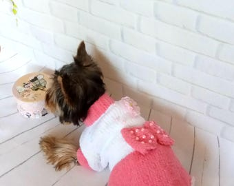 dress for dog dog jacket small dog sweater dog costume yorkie clothes pet clothes  yorkie sweater  dog dress large dog dog in clothes