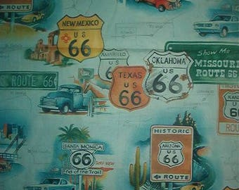 AEXANDER HENRY cotton fabric-ROUTE 66-quilt-100% cotton-1 yard