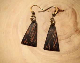 Black palm tree earrings