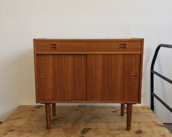 Vintage Danish Modern Teak Console / Cabinet - Free NYC Delivery!